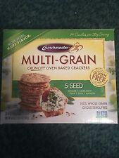 Crunchmaster Multi-Grain Crunchy Oven Baked Crackers Gluten Free 20 oz FREE SHIP