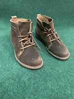 Born F32526 Temple Rust Distressed Leather Lace-Up Ankle Boots Women's US 6