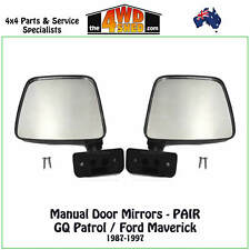 DOOR MIRROR PAIR fit NISSAN PATROL GQ 2X MIRRORS LH RH 1987-1997 FORD MAVERICK