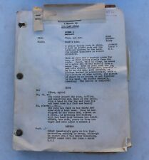 RARE 1954 The Flowering Peach Clifford Odets Play Theater Script Vintage Actor