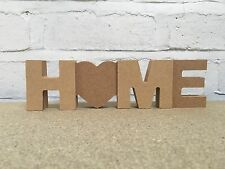 'HOME' word art. MDF 18mm thick + 2x 3mm thick extra letters. DIY wooden craft