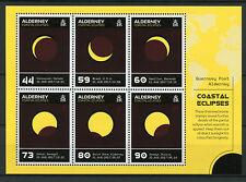 Alderney 2017 estampillada sin montar o nunca montada eclipse solar de los eclipses costeras Sol 6 V m/s Termocrómico sellos