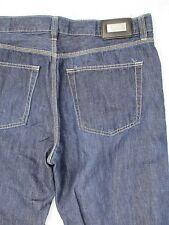 HUGO BOSS Alabama cotton linen dark blue straight leg jeans 36x34