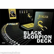 Black Scorpion Deck Bicycle Playing Cards Poker Size USPCC Limited Ed. w/ Gaffs