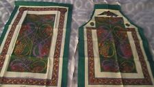 New Fingal Irish Linen Apron Large Kitchen Tea Towel Set The Book of Kells Print