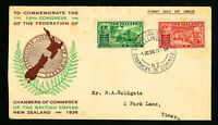 New Zealand 1936 14th Congress First Day Stamp Cover