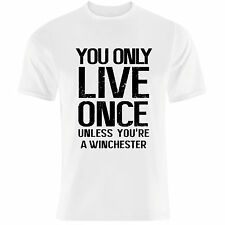 """YOLO"" syfy demon hunters winchester brothers supernatural heroes T Shirt"