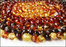 Lot- 5 Beautiful Round Beads Natural Baltic Amber Necklaces