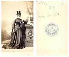 Mary des Voeux CDV vintage albumen carte de visite,  Tirage albuminé  6,5x10