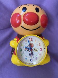 "Anpanman Voice Action Alarm Clock Character Japan Works Talks 7"" US Seller"