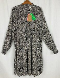 MONSOON 'ALESSIA' Womens Black Mix Floral Dress LARGE NEW