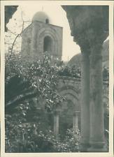 Sicile, Palerme, Monastère St-Jean des Ermites, ca.1925, vintage silver print vi