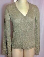 NWT Zara Beige Marled V Neck Sweater Hi Low Style Size Small