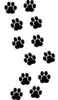 24x Kit zampette adesive gatto per composizioni prespaziato sticker mis. 3x3 cm