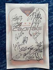 2008 Washington Capitals rookies autograph sheet (Holtby, Varlamov, Beagle)