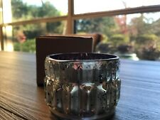 Pottery Barn Silver Pink Mercury Tea Light Candle Holder - NEW