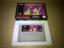 SNES Super Nintendo Dragon's Lair Boxed UK Pal Rare