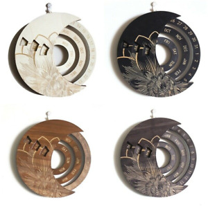【 Xmas Gift】Calendar Wooden Everlasting Perpetual Wall Hanging Decorative Ideal