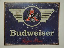 "Vintage Style ""Budweiser Lager Beer""  Metal Sign Man Cave Garage Decor S64"