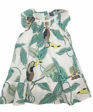 9665746f3 Baby Gap Girls Summer Tropical Toucan Sleeveless Ruffle Dress Sz 18-24  Months
