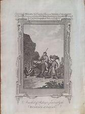 méthode de battre un agriculteurs d'âne JAPON ASIA acquaforte 1784 MILLAR
