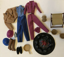 Barbie - Heart Family Camping Set Lot - Vintage Mattel Doll Accessories