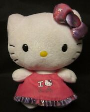 "HELLO KITTY PLUSH I Love Los Angeles Sanrio Ty Beanie 2012 6"" Free US Shipping"