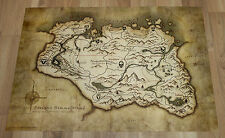 The Elder Scrolls V Skyrim rare Map / Poster 57x43cm PS3 PS4 Xbox One 360