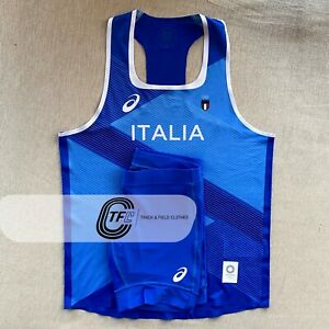 RARE Asics 2021 Italy Olympic Team Pro Elite Track and Field Singlet + Tights