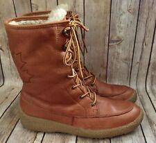 Cougar Cheyenne Leather Snow Boots Women's 10 Sherpa Lined Waterproof Anti Slip