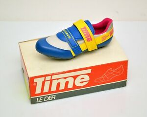 vintage 90s Cycling SHOES TIME 'Criterium' time trial - road race NOS DS France