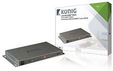 Konig HDMI Matrix Switch 4x HDMI Input to 2x HDMI Output Dark Grey