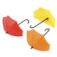 3Pcs Umbrella Shape Gall Mount Hanger Hook Porch Key Holder Hanging Hooks G6A