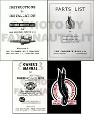 1939 Lincoln Zephyr Columbia Overdrive Axle Manual Set Installation Owners Parts