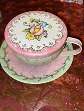Mary Engelbreit Ink tin tea cup set