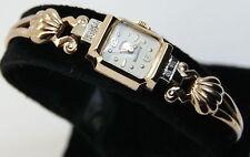 Vintage 17 Jewel Hamilton Illinois 14K Yellow Gold & Diamond Ladies Watch