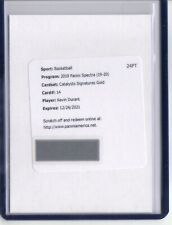 2019-20 Panini Spectra Kevin Durant Auto /10 GOLD PRIZM Catalysts Redemption