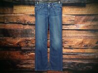 7 For All Mankind Womens Bootcut Medium Wash Blue Jeans Size 28 Measure 30x33