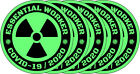 5 PACK Essential Worker Hard Hat Sticker Nuclear Toxic Covid VINYL Decal Set 19