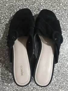 MIMCO Black genuine leather suede Shoes size 39 buckle feature