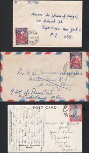 BERMUDA, 1948-53. Covers 108/112) (9) Various - U.S.