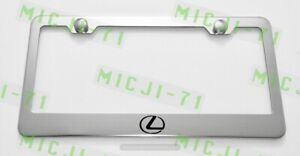 Lexus L logo Stainless Steel License Plate Frame Rust Free W/ Bolt Caps