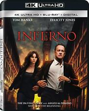 Inferno (4K Ultra HD Blu-ray) Disk Tom Hanks NEW Factory Sealed, Free Shipping
