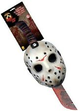 OFFICIAL FRIDAY 13th JASON MASK & MACHETE KIT SCARY HALLOWEEN FANCY DRESS UNISEX