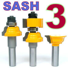 "3pc 1/2"" SH Window Sash/Glass Door R&S Router Bit Set sct-888"