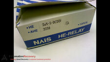 NAIS 2AN-S-DC24V *PACK OF 10* POWER RELAY 277VAC 24VDC 25A 2HP, NEW #152274