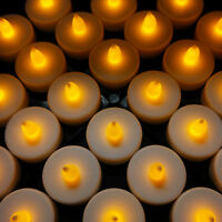 48 PCS  LED Tea Lights  Flameless Battery Christmas Flickering Tealight Candles
