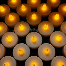 48 Flameless Battery Christmas LED Tea Lights Flickering Amber Tealight Candles