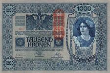 AUSTRIA HUNGARY 1000 KRONEN 1902 UNC BUT AUNC / UNC P.59 CRISP - BIG SIZE