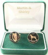 1966 IRLANDA Gemelli da vecchio IRLANDESE SEI PENNY monete nero oro
